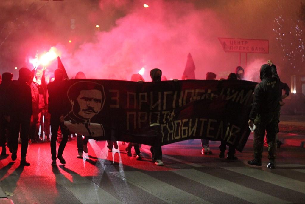 Шоу под названием «Марш Махно»: что произошло сегодня во Львове. шокирующие подробности