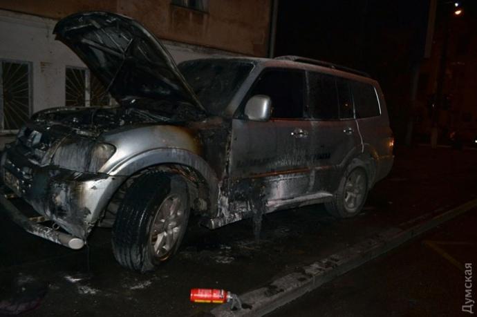 В Одессе сожгли авто местного «автомайдановца»