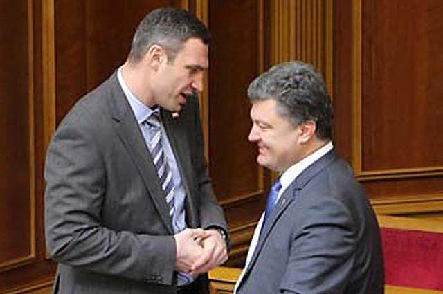 Мэр Кличко отпросился у Порошенко погулять на Новый год
