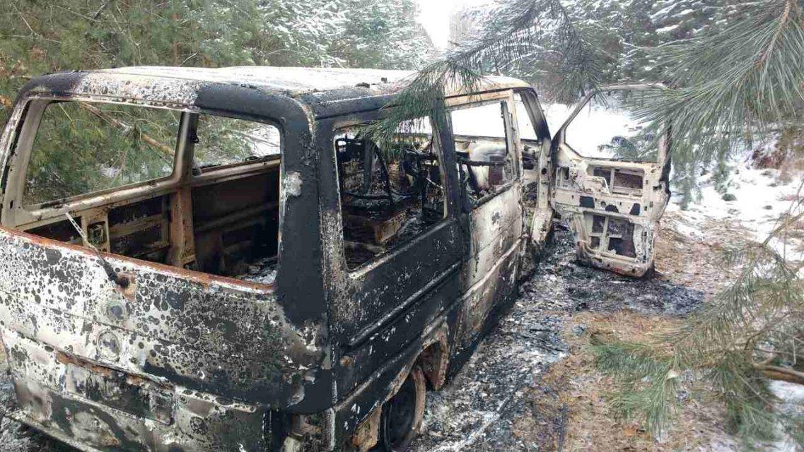 Контрабандисты в Волынской области сожгли автобус с сигаретами