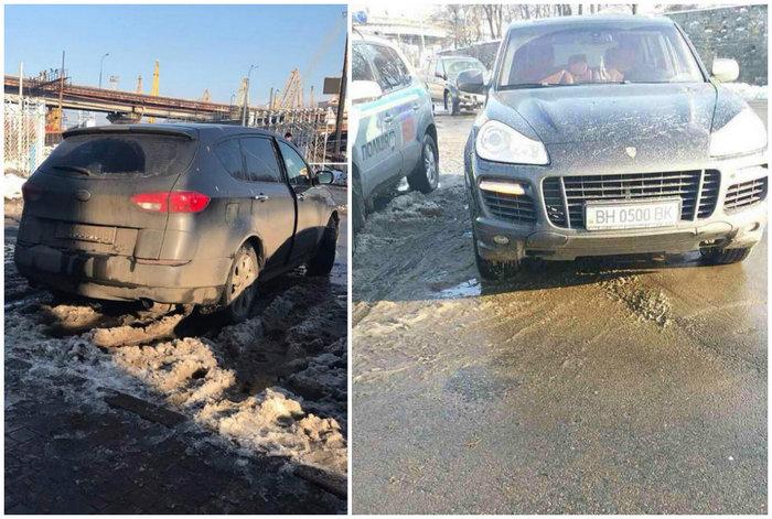 Одесская «дуэль на пистолетах»: экс-прокурор и участник АТО перестрелялись через женщину за рулем (ФОТО, ВИДЕО)
