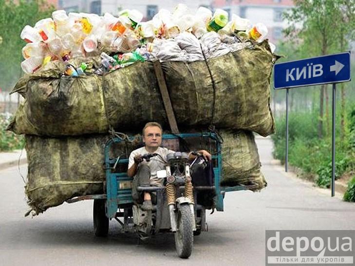«Мусорный» мэр Львова»: все на Рождество дарят подарки, а Садовый «одарил» Ровно мусором (ФОТО). Схема скандального мэра