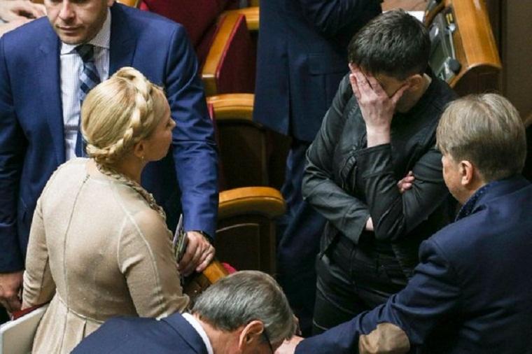 Тимошенко рыдает: Савченко рассказала как относится к лидеру «Батькивщины»