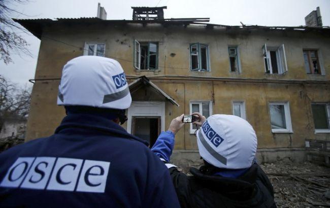 После выстрелов возле ДФС упал беспилотник ОБСЕ