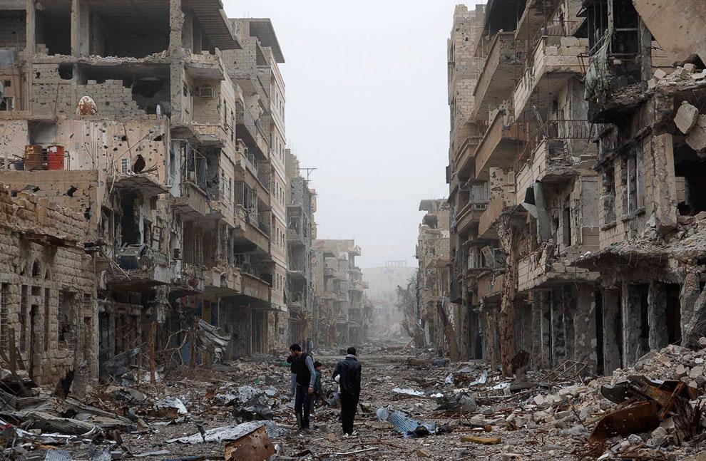 В Сирии, во время бомбардировки, погибли дети