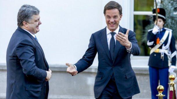 Порошенко поздравил премьер-министра Голландии с победой