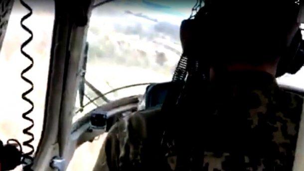 В сети появилось последнее ВИДЕО полета из кабины военного вертолета, который упал под Краматорском