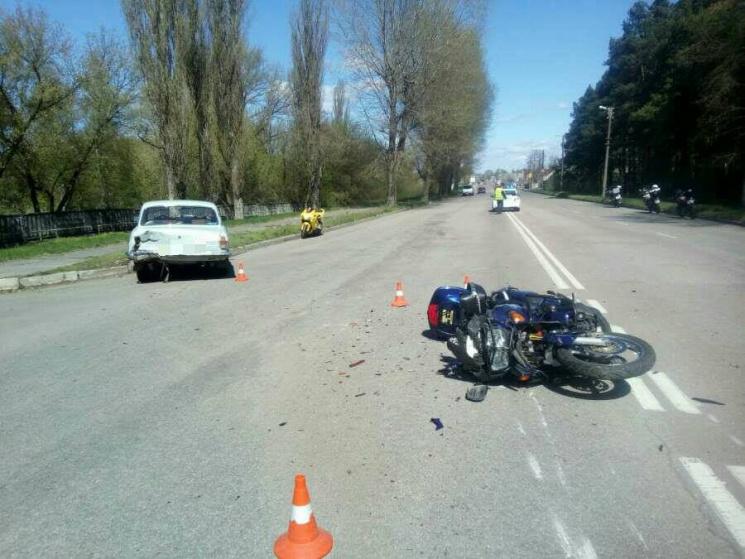 В Кропивницкому произошло ужасное ДТП с участием мотоциклиста