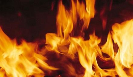 Во время пожара на Полтавщине погиб человек