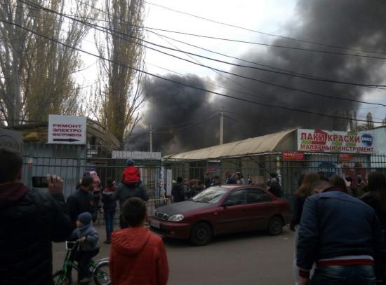 СРОЧНО! В Одессе горит рынок. Последствия пожара катастрофические!