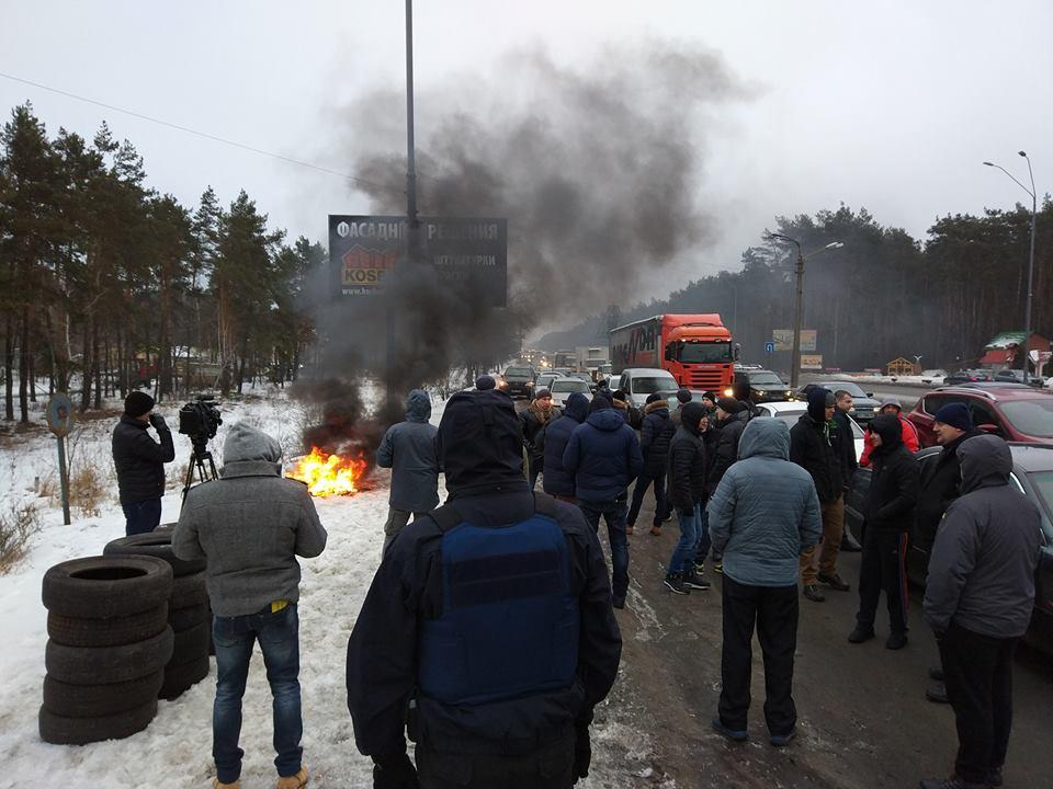 СРОЧНО!!! В Полтаве массовые протесты: дым накрыл весь город, вы должны знать причину (ВИДЕО)
