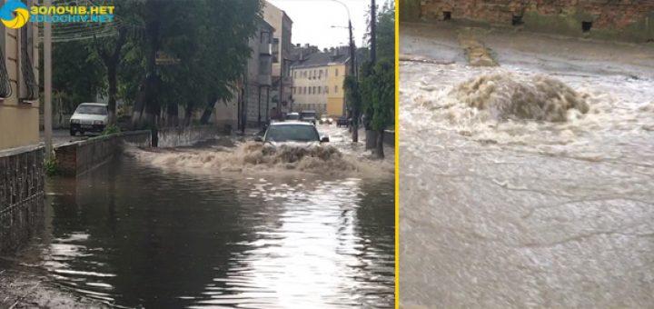 Только посмотрите, что там творится! После страшной грозы город на Львовщине утопает в водах! Невозможно выйти на улицу!