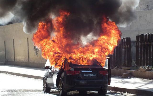 Там ТАКОЕ было!!! На Тернопольщине сгорело авто, от него ничего не осталось
