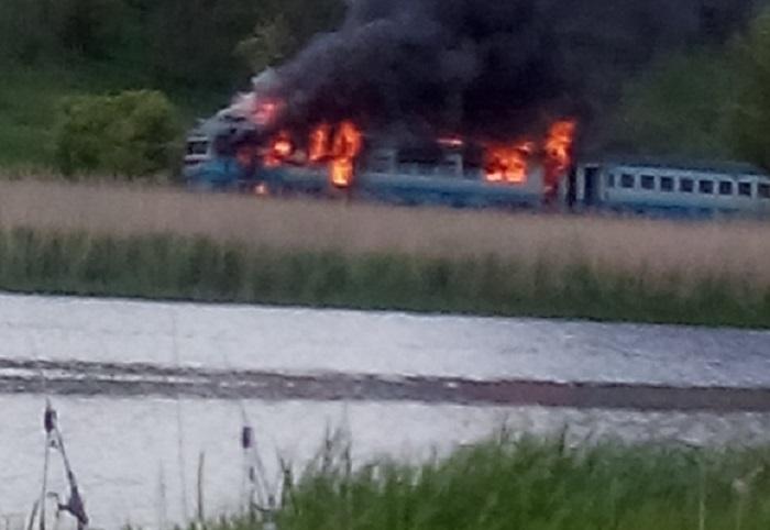 СРОЧНО!!! В Кировоградской области загорелся пассажирский поезд, там ТАКОЕ творилось