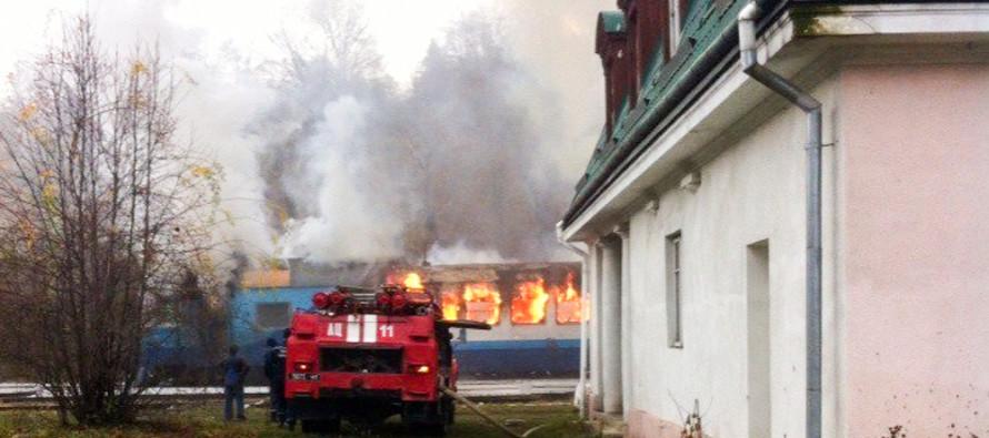 Там было 130 человек!!! Под Винницей загорелся пассажирский поезд прямо на ходу