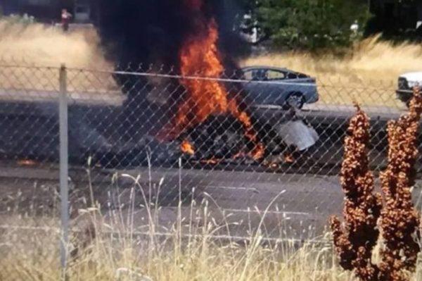 Страшная трагедия: На автостраду упал самолет. Все на борту погибли