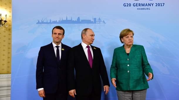 Стали известны новые шокирующие подробности переговоров между Меркель, Путиным и Макроном. Украинцы такого не ожидали!