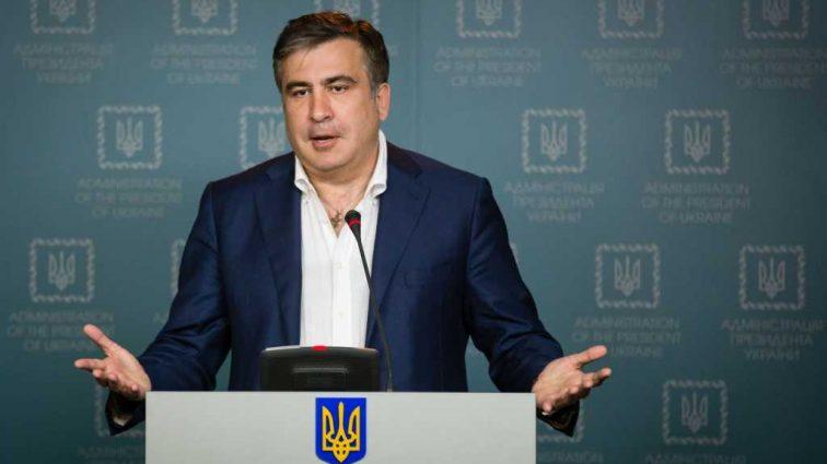 «Такой говномет будет, мало не покажется!» Как Саакашвили под «чем-то» украинской политической верхушке мордобоем угрожал (Видео)