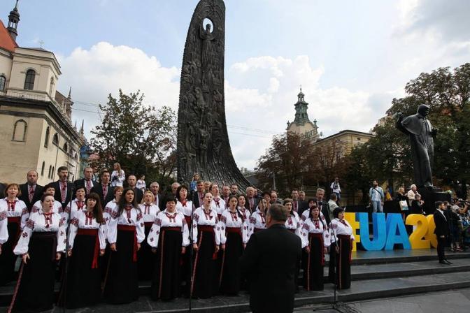 Как во Львове отпраздновали День Независимости