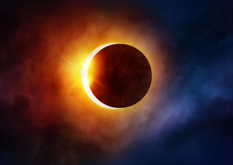 Не пропустите прямую трансляцию солнечного затмения здесь. В Украине ТАКОГО не увидеть