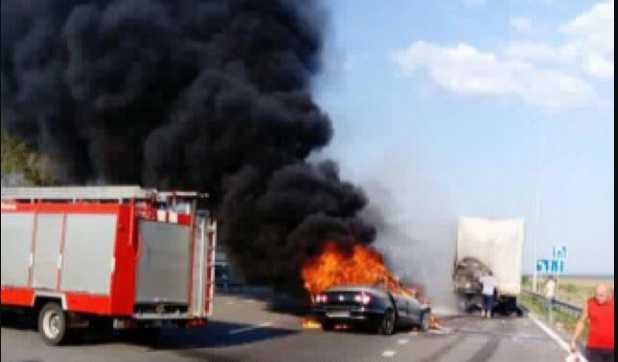 Сгорел заживо … Сегодня на трассе Киев-Чоп произошло жуткая ДТП. Там был настоящий ад