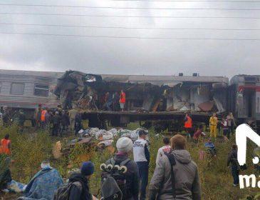 Грузовик пробил вагон поезда на ходу… Большое количество пострадавших. Людей просто выбросило (ВИДЕО)