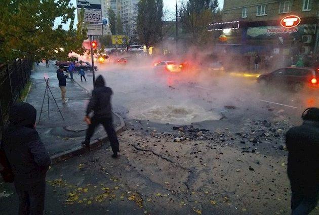 «Все через ср * ку!» В Киеве настоящая беда из-за прорыва горячих труб