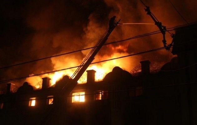 Что там только творилось!!! В Полтаве произошел страшный пожар, все сгорело дотла