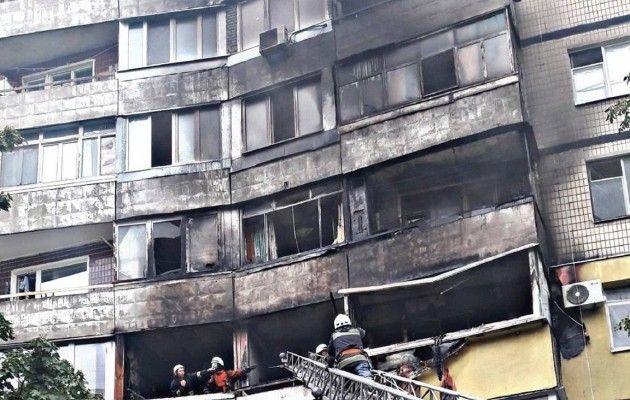 В Черкассах произошел пожар в многоэтажке, есть погибшие