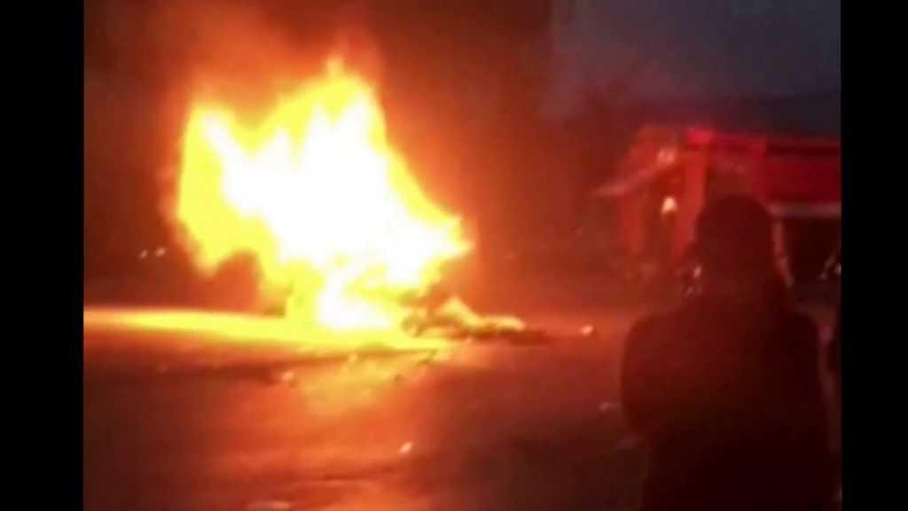 Ночью в Глобино полностью сгорела элитная машина