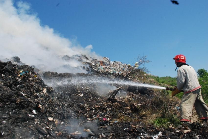 На скандальной Грибовицской свалке снова произошел пожар