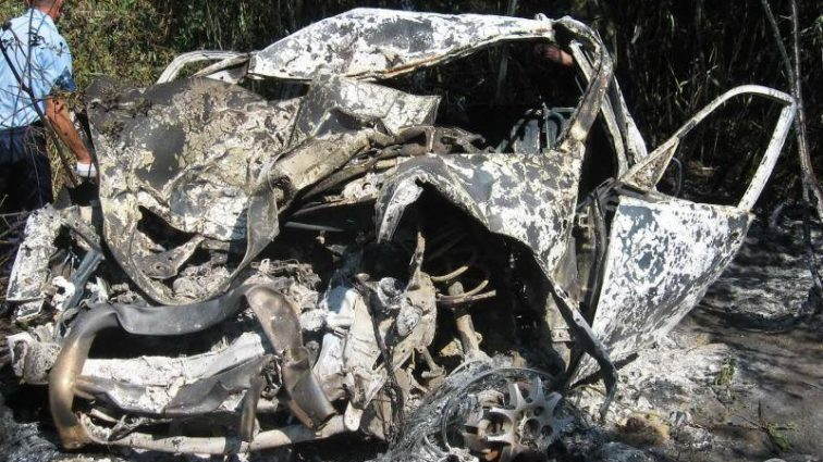 В Кировоградской области нашли обгоревший джип с телом мужчины, что же случилось?