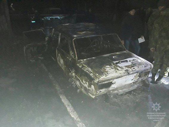 На Днепропетровщине авто полицейских расстреляли из гранатомета, есть пострадавшие