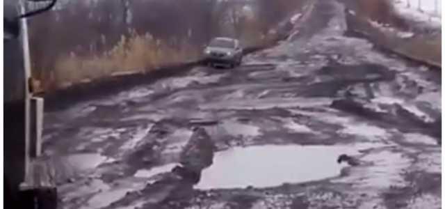 «Гройсману привет…»: Жителей Украины поразило видео дороги национального значения