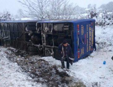 На Львовщине произошло ужасное ДТП: перевернулся рейсовый автобус, есть пострадавшие