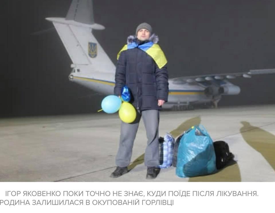 «На фото освобождённый из плена Игорь Яковенко, ему некуда идти…»: Как в «Борисполе» встречали освобожденных пленных