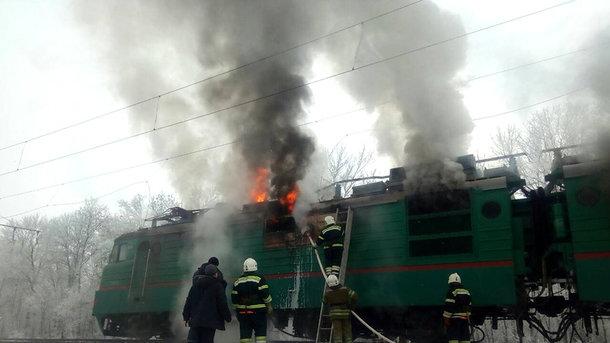 Страшный пожар: На Полтавщине горел поезд (ФОТО)