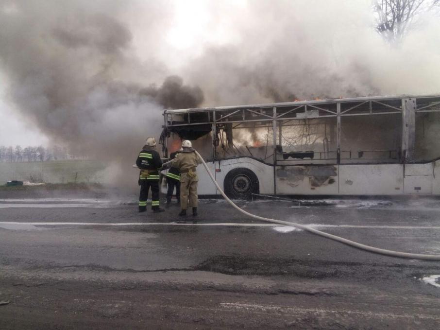 «В салоне находились 50 пассажиров…»: Сгорел пассажирский автобус (Видео)