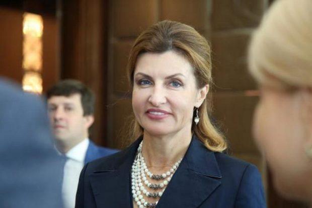 Марина Порошенко в удивительной платье с вышивкой появилась на мероприятии ко Дню Соборности