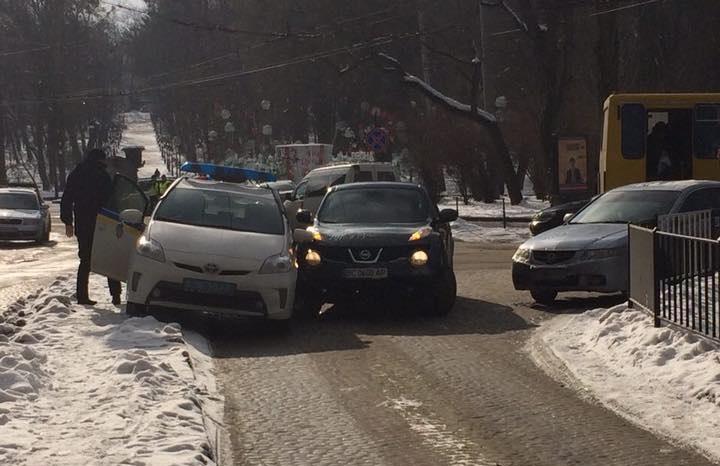 Во Львове патрульная полиция попала в ДТП