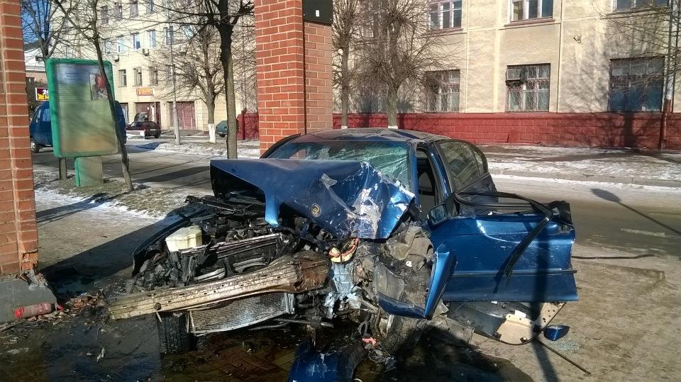 Страшное ДТП: BMW превратился в груду металла