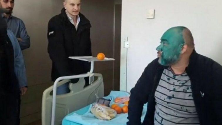 Подарили яд, а священник облил зеленкой: Как украинцы проведали «титушку» Крысина в больнице