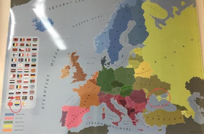 Карта Украины без Крыма и Одессы вызвала международный скандал