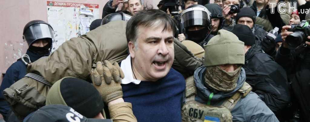 «На пол бл*ть! Руки за голову!»: В заведении, где задержали Саакашвили, администрация сделала оригинальный памятник