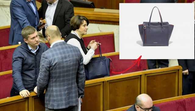 «Она стоит почти 40 000 гривен»: Нардеп от БПП «засветила» новую сумочку