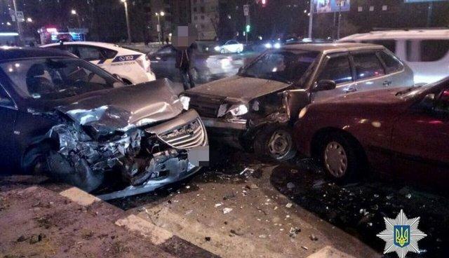 Столкнулось сразу 5 автомобилей: Есть пострадавшие
