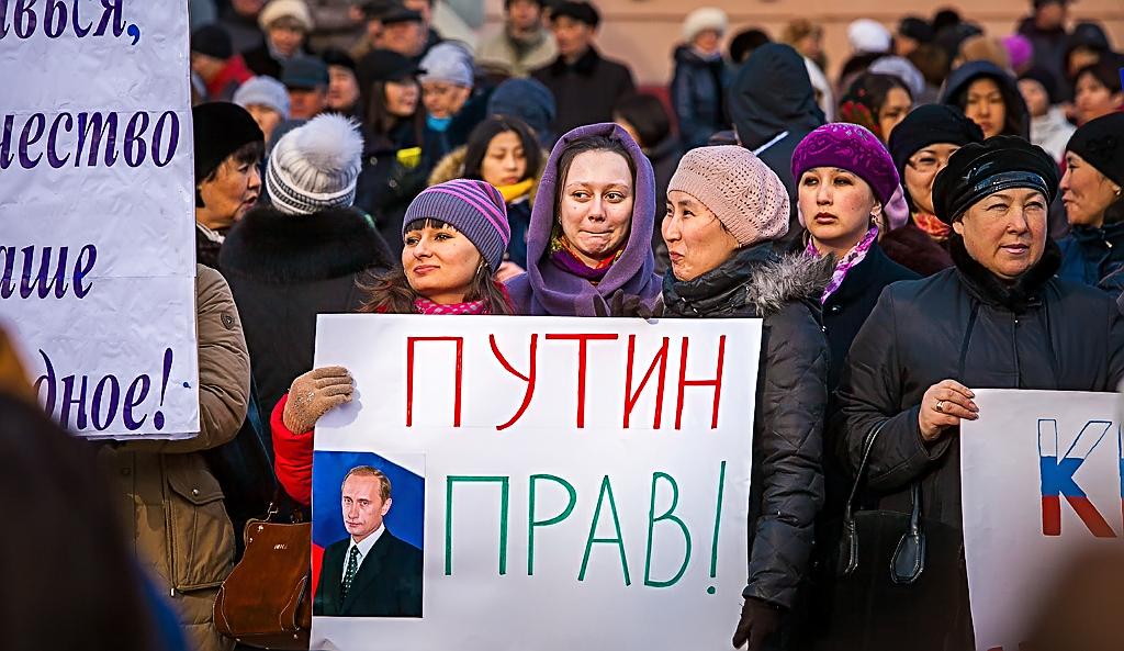 Украинцы разъяренные: В центре Киева Путину признались «в любви» (Видео)