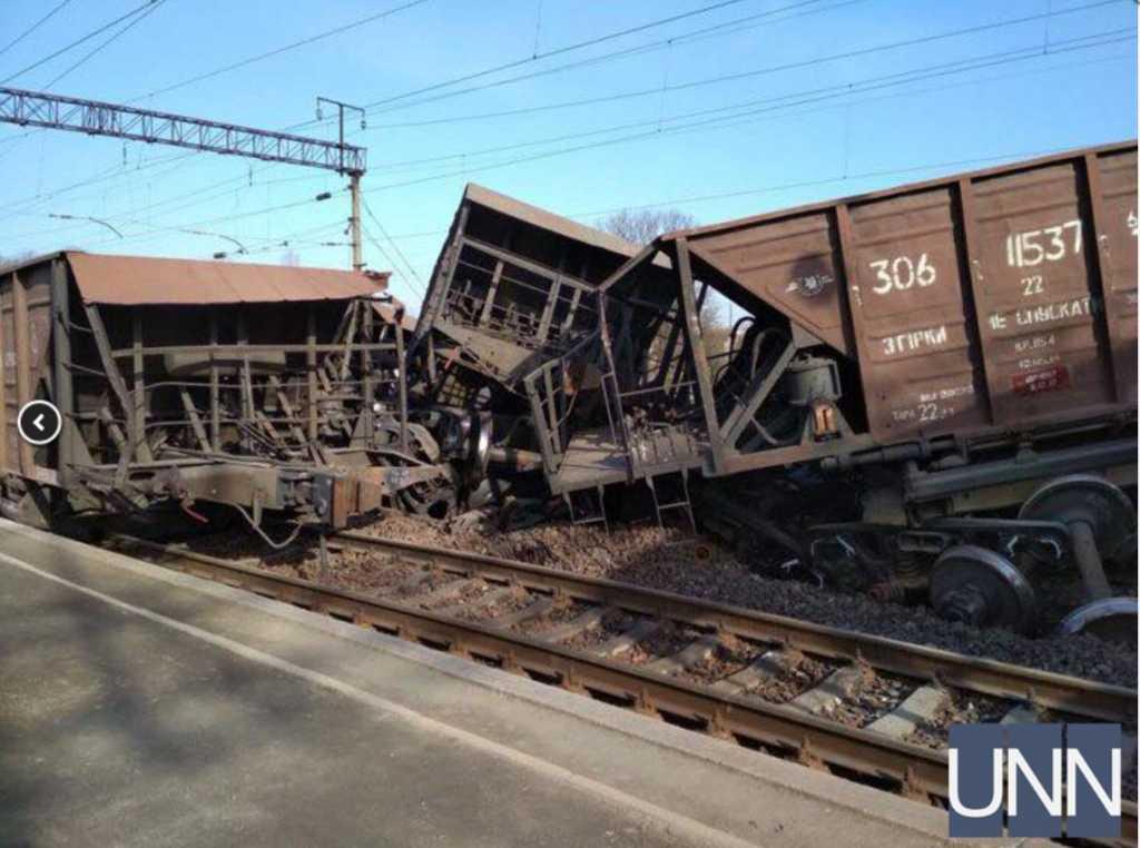 «Перевернулось с десяток вагонов»: Во Львовской области произошла масштабная авария на железной дороге
