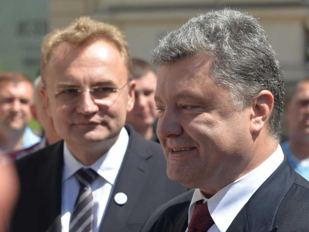 «Здесь только личная …»: Охрана не пустила Садового на встречу Петра Порошенко