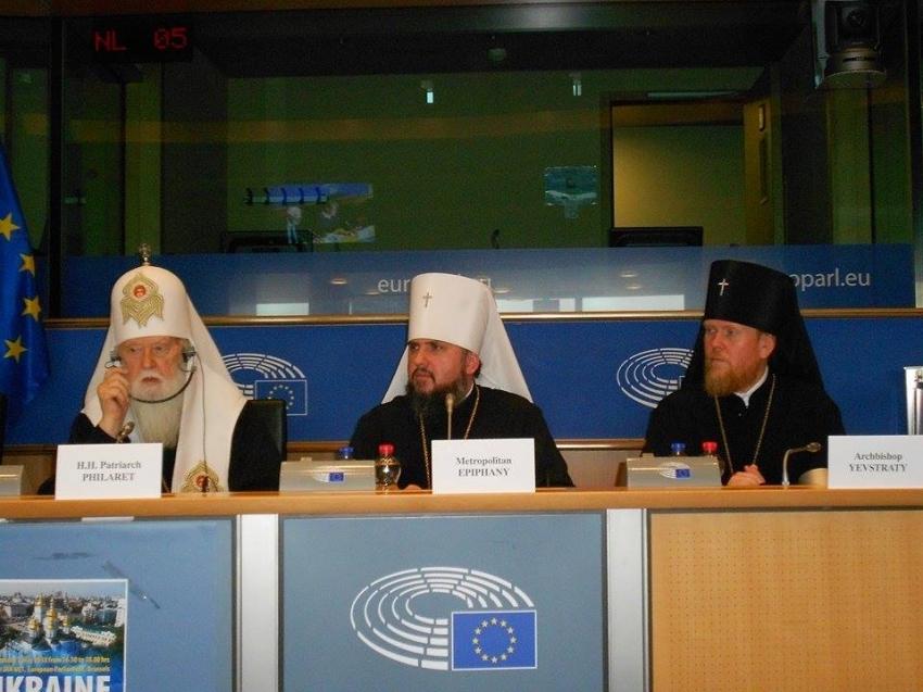 «Это не заслуга Порошенко, а …»: Патриарх Филарет сделал громкое заявление в Европарламенте